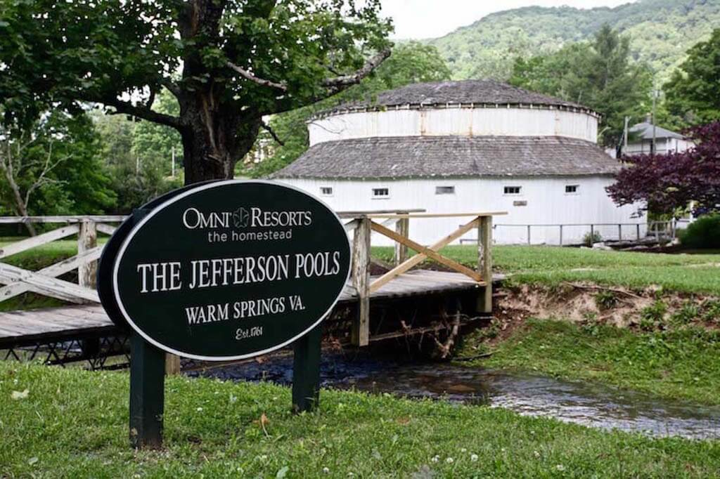 The historic Jefferson Pools, located up the road in Warm Springs, VA, are fed by natural 98°F mineral springs.
