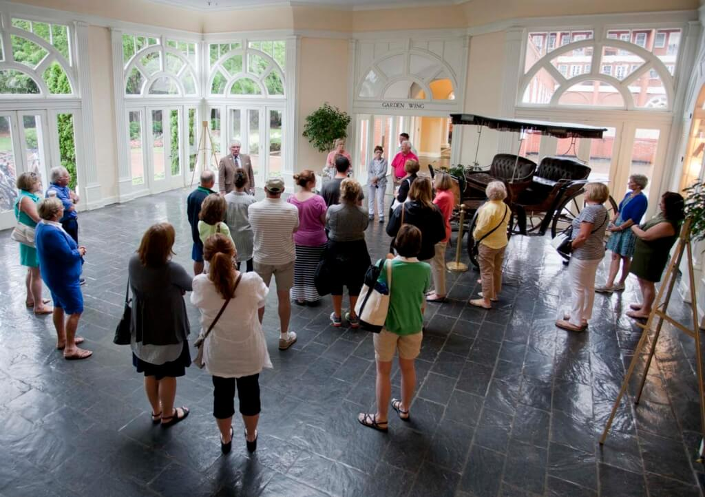 Keene Byrd, the resort's resident historian, leads daily tours of the 250 year old property.